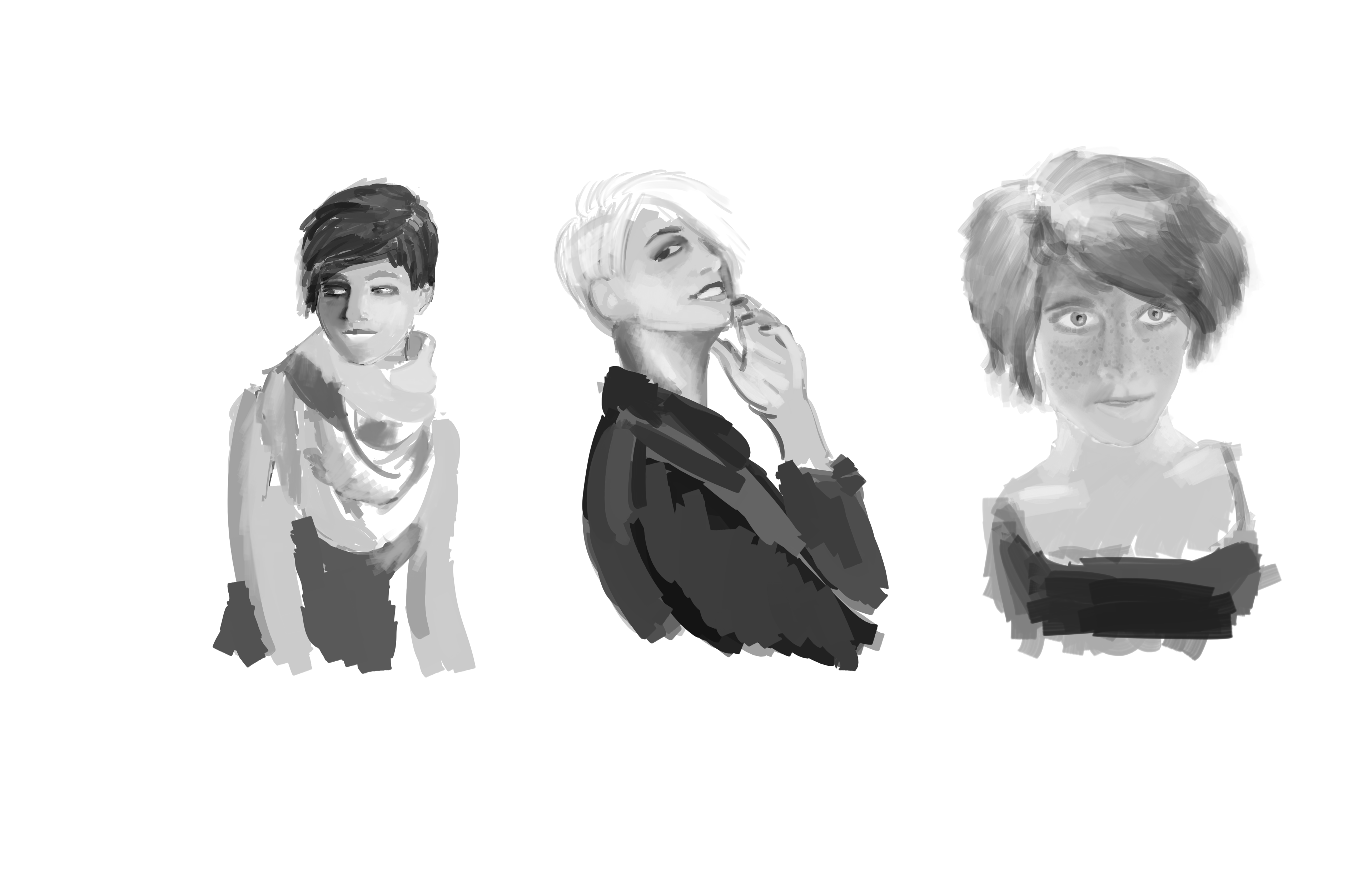 practice sketches for people faces and junk by dinglemcgee on
