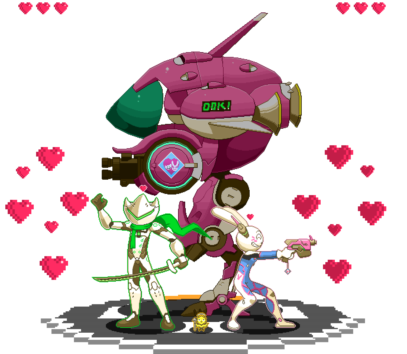 There She Is x Overwatch diorama sprite