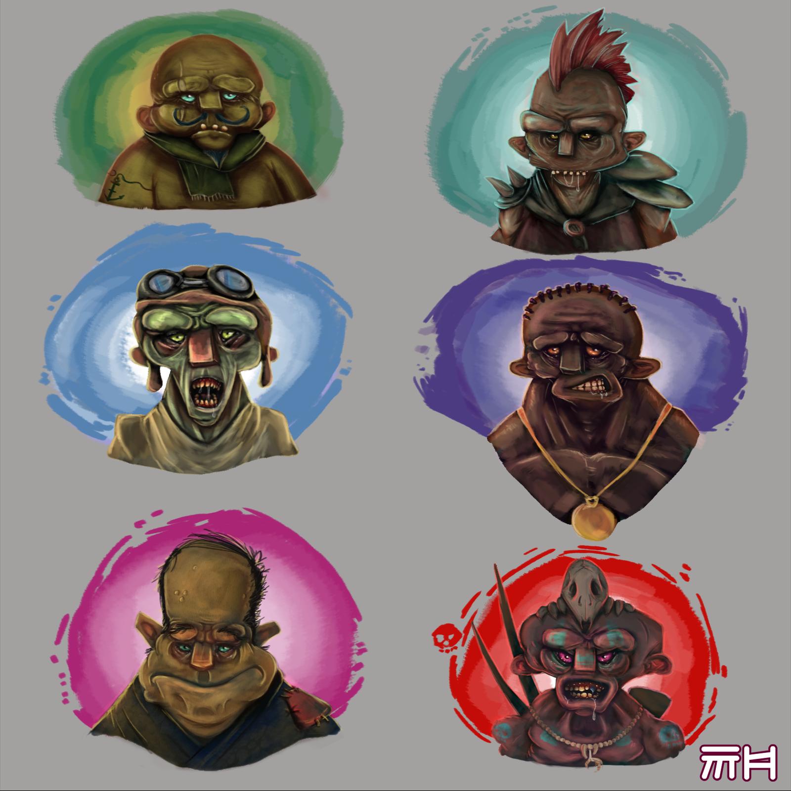 A few faces- character concepts