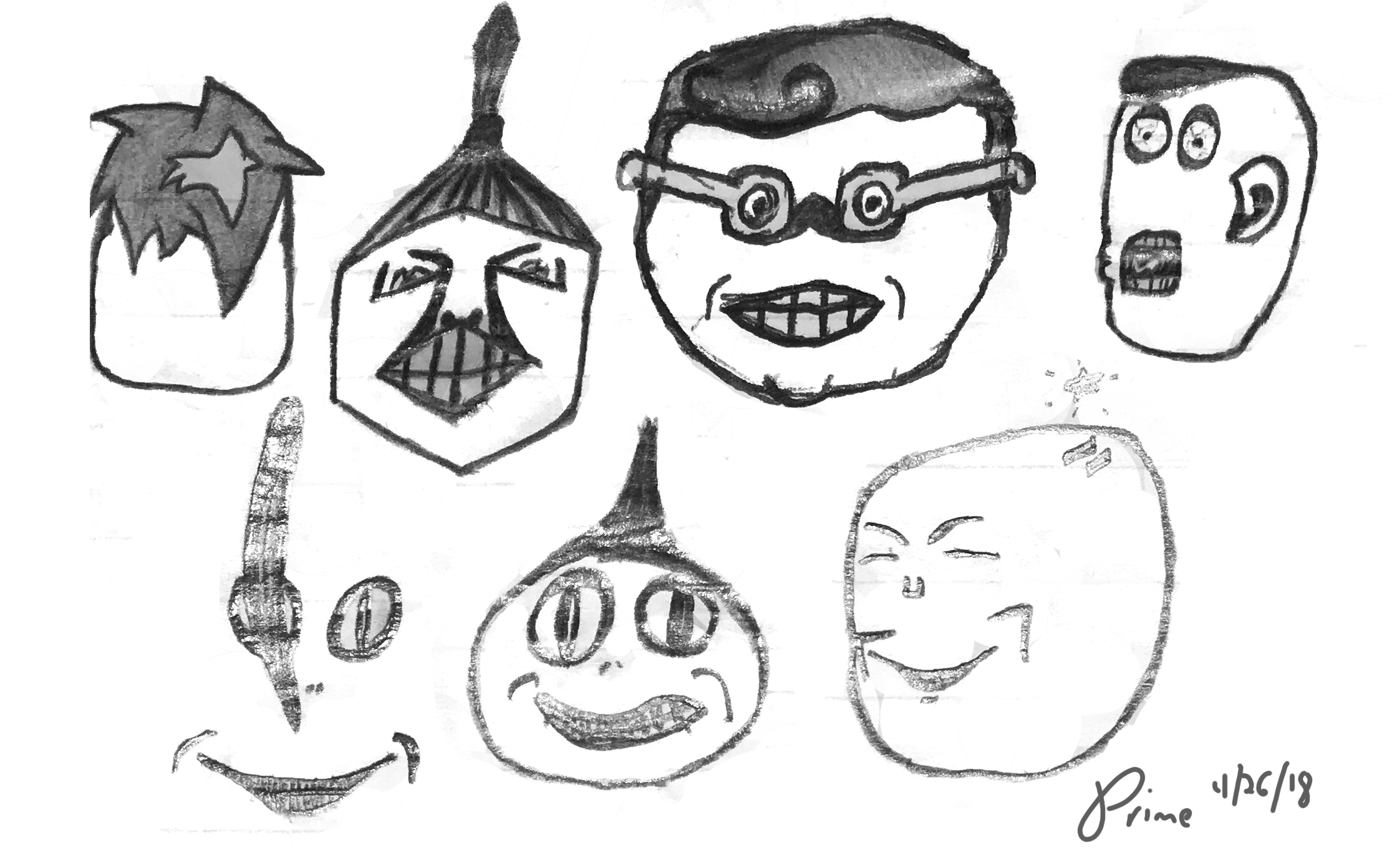 """World of Face"" Drawing 17"