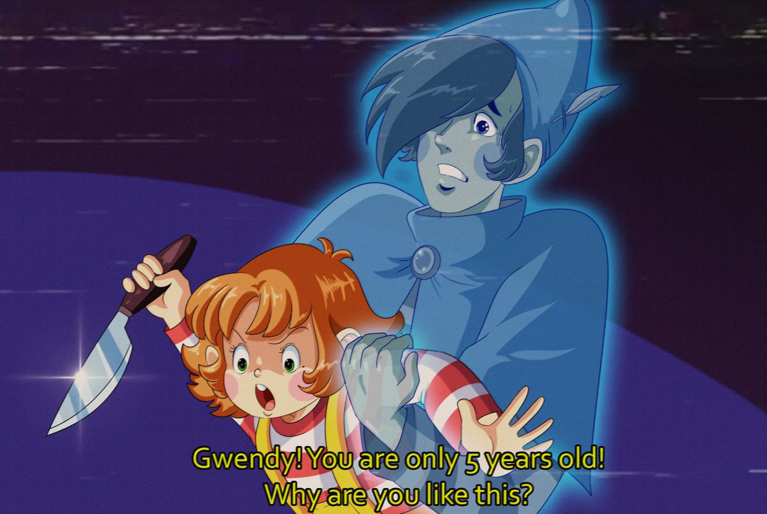 Gwendy & Ghost AU: Old anime vhs?