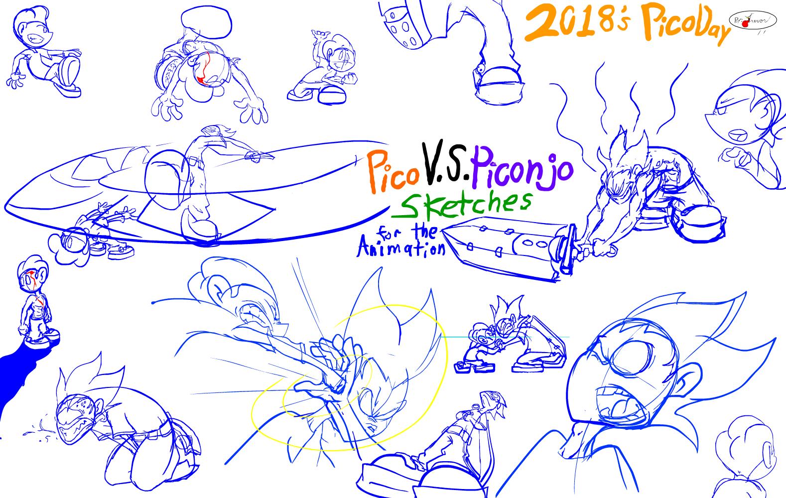 Pico V.S. Piconjo animation sketchs