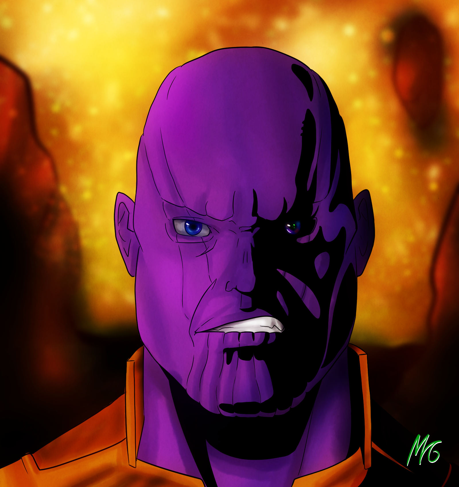 Thanos in anime style by MaxGreen88 on Newgrounds