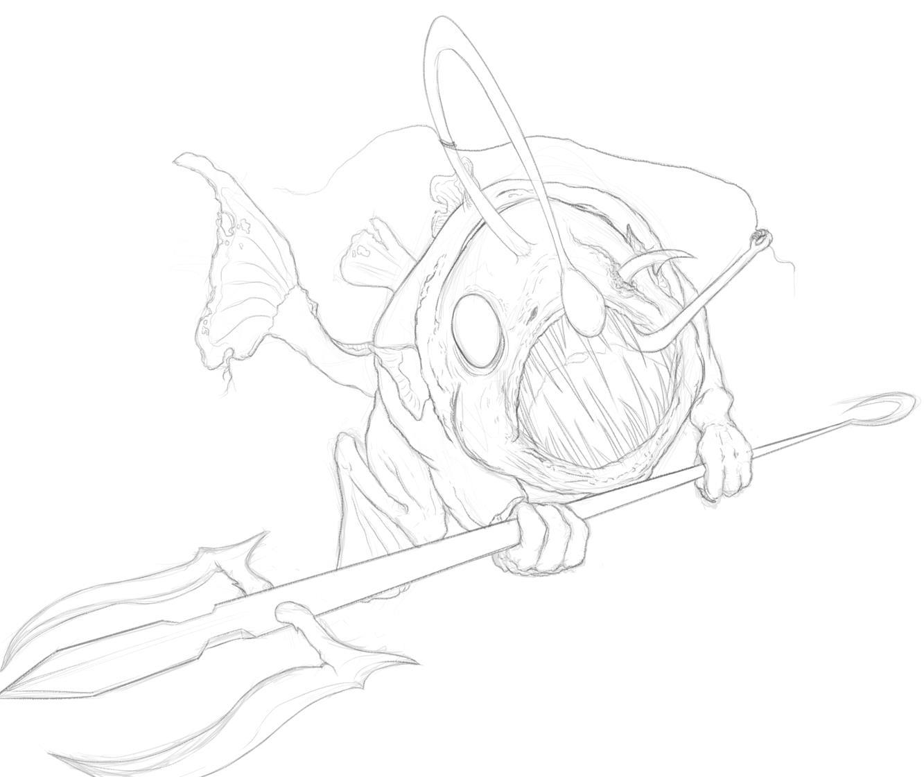 Deep merman sketch