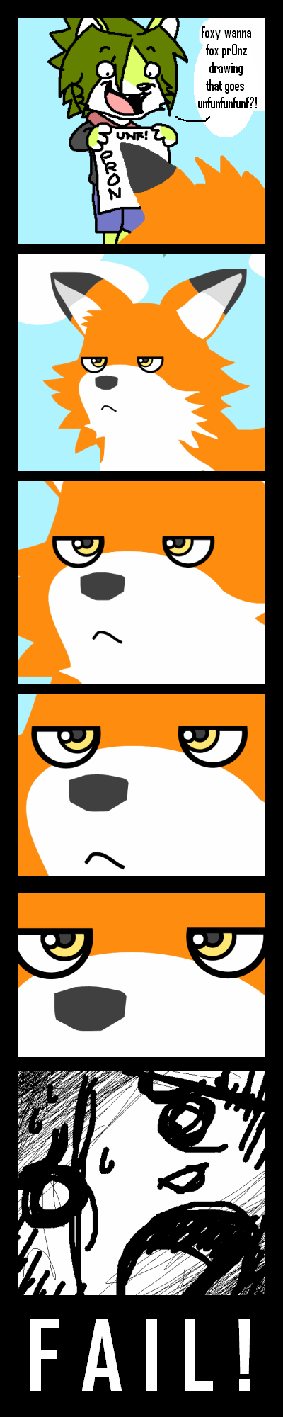 -Orange Fox is NOT AMUSED-