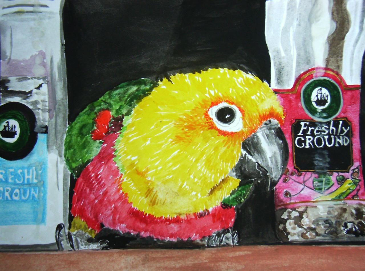 Beaky in the Cupboard