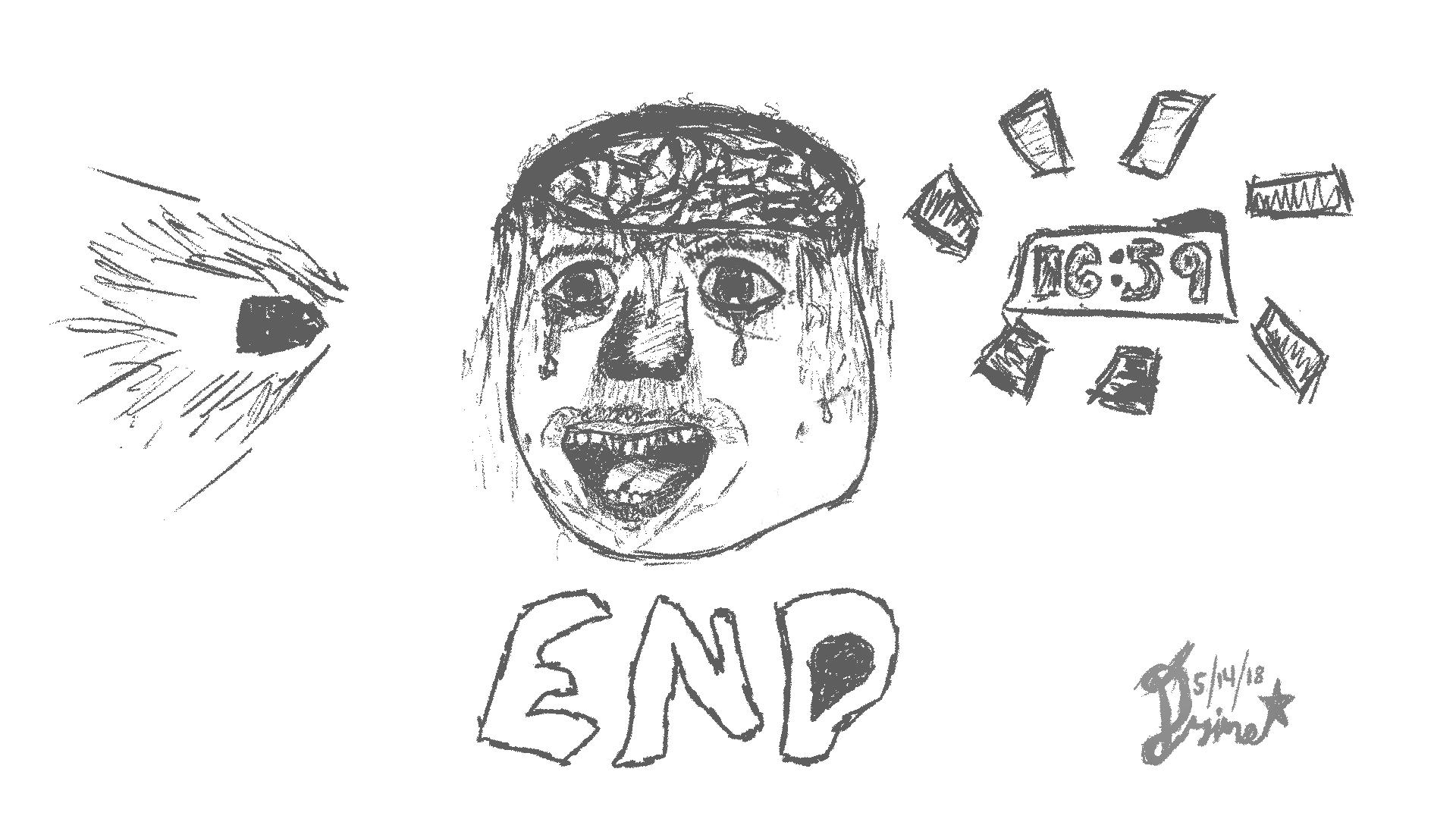 "Drawing 22 ""Brain Damage"""