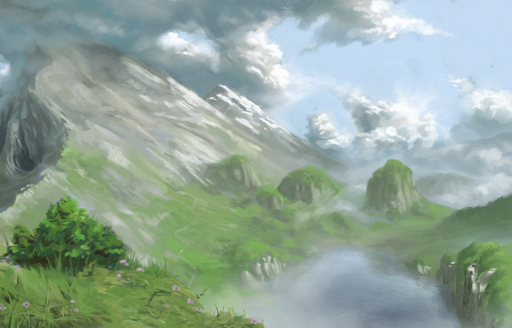 Landscape improv - with painting video