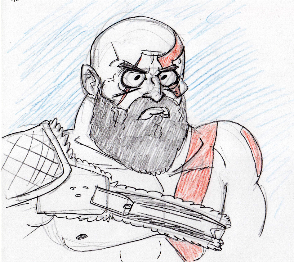 sketch Papa Kratos