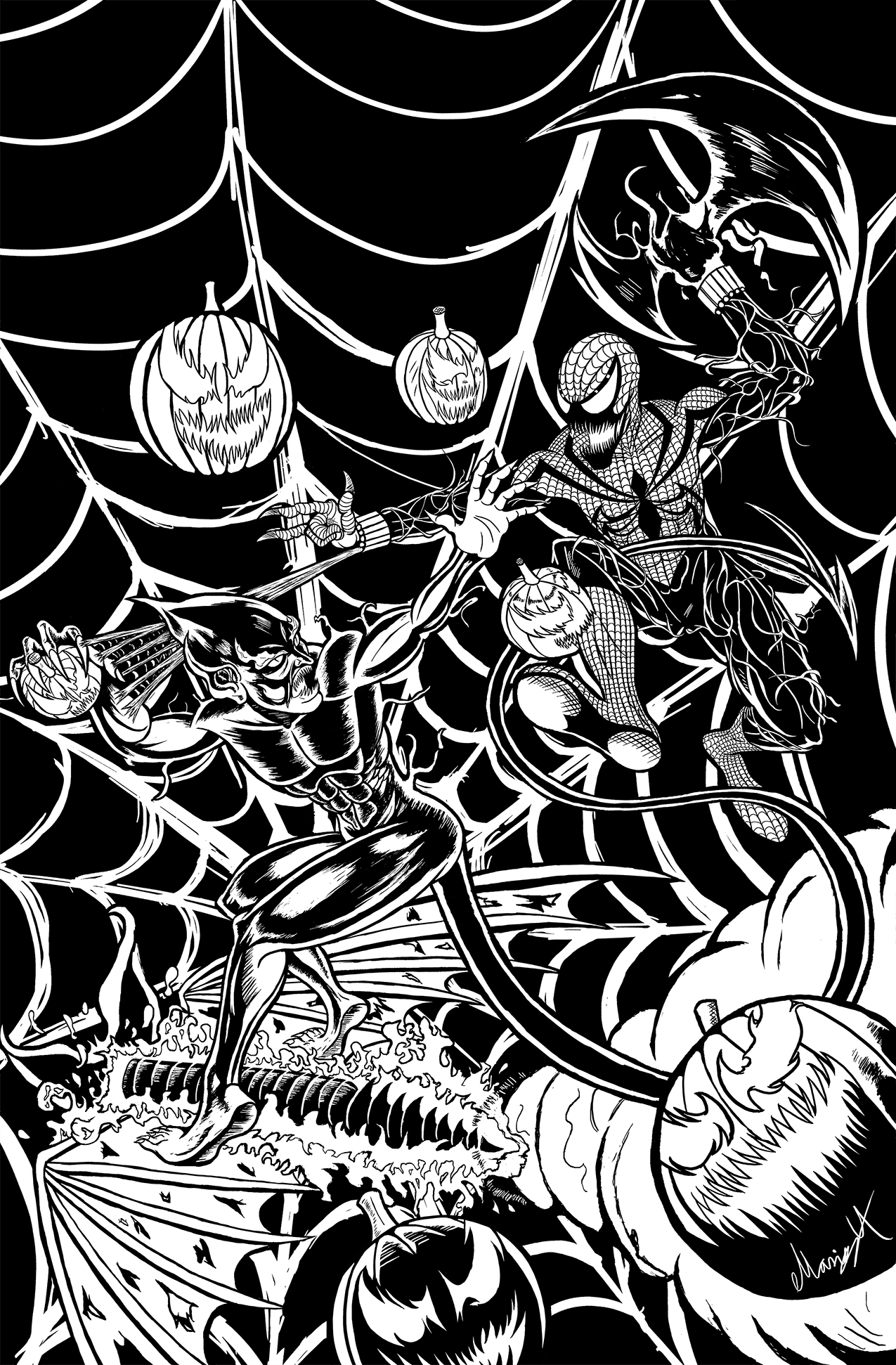 Red Goblin vs Spider-Carnage