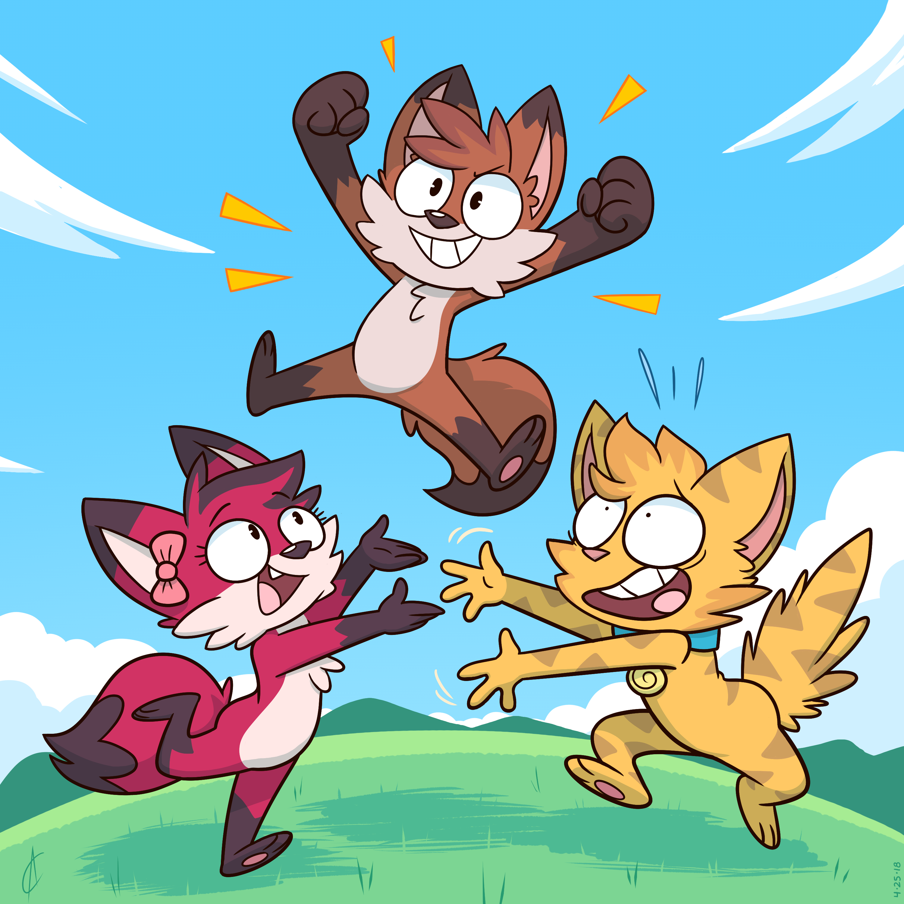 COMM - Archie, Rae, and Furball