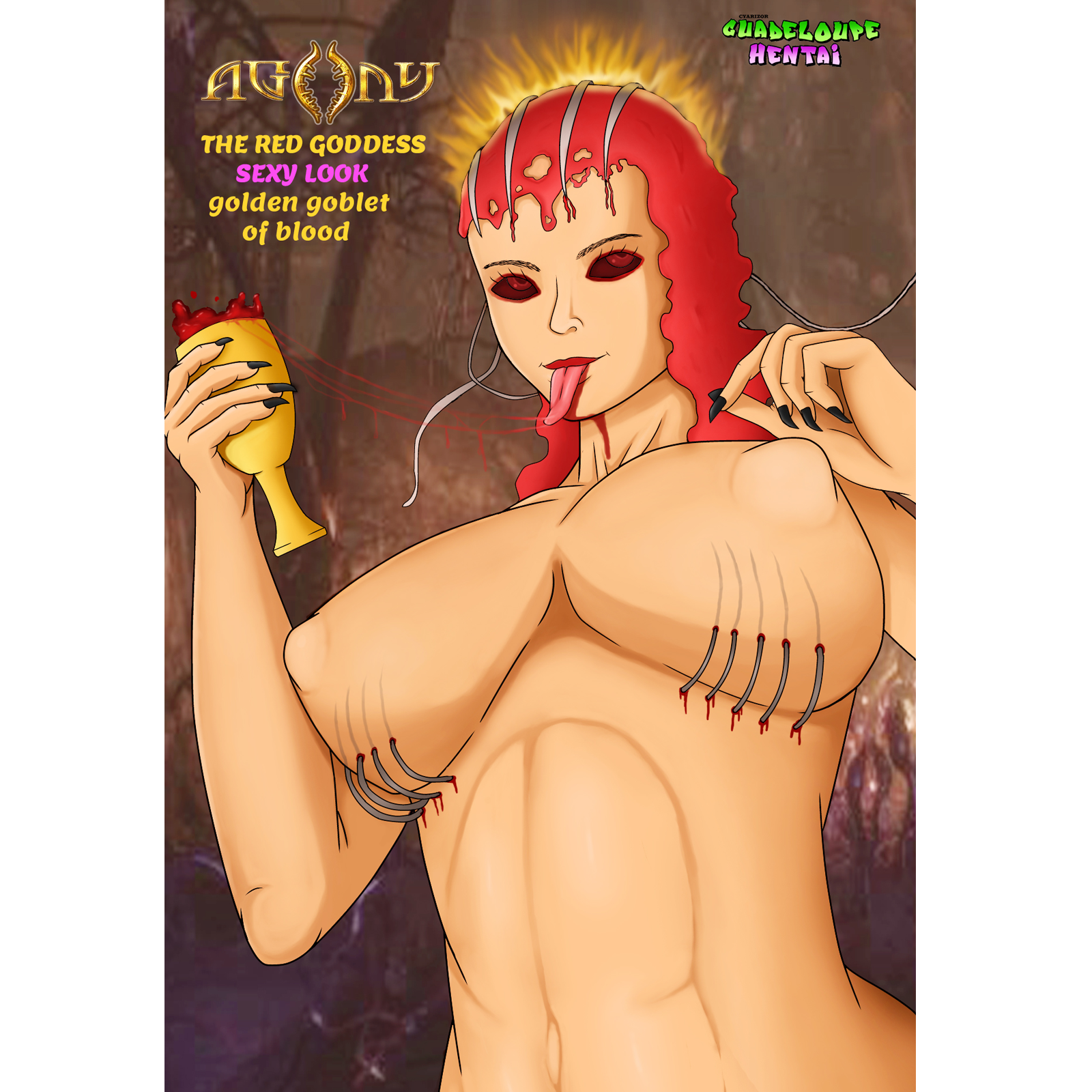 Agony the red Goddess sexy look