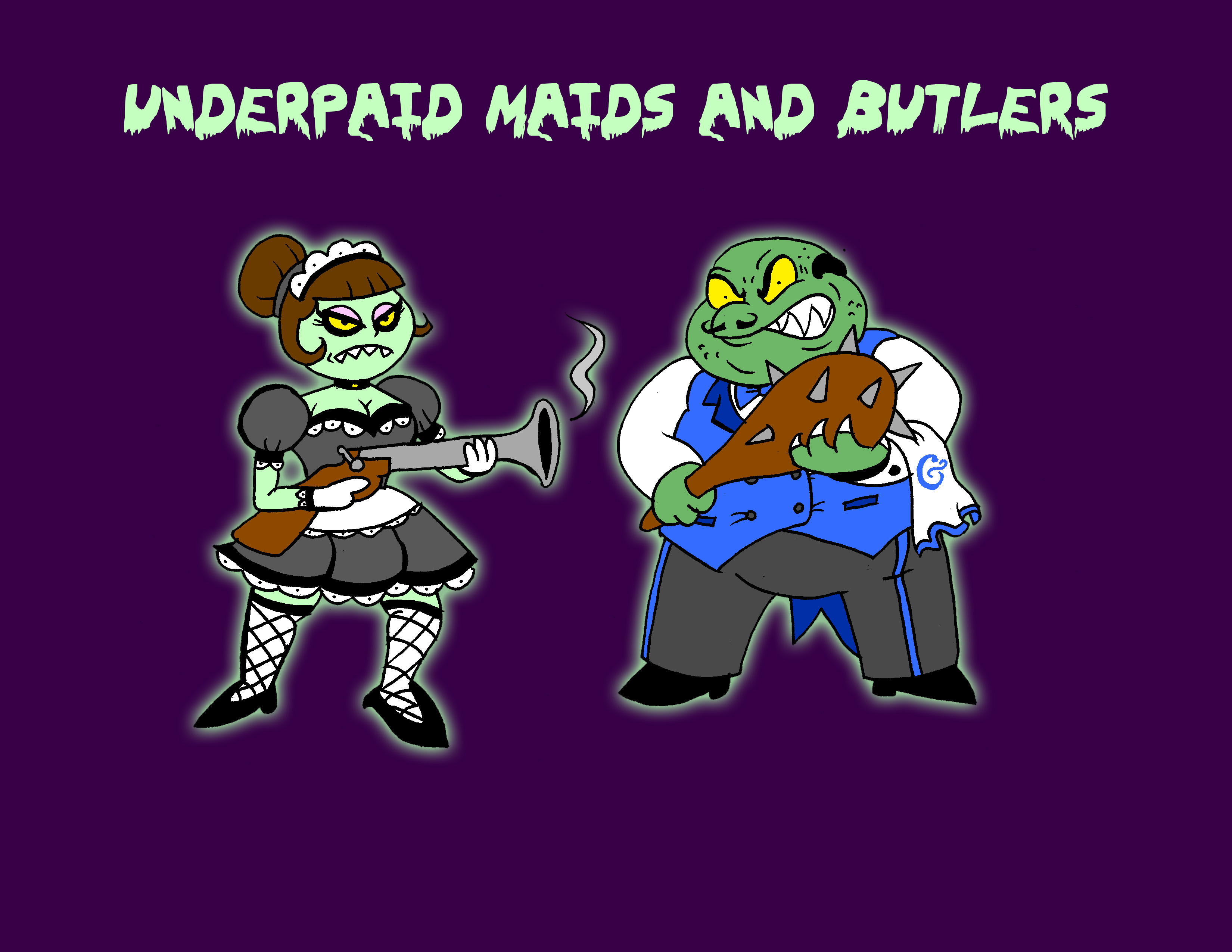 Underpaid Maids and Butlers Concept art