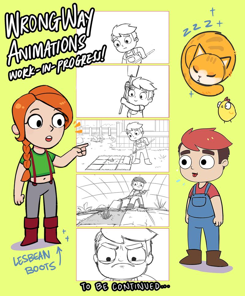Stardew Valley Animation 2 work-in-progress
