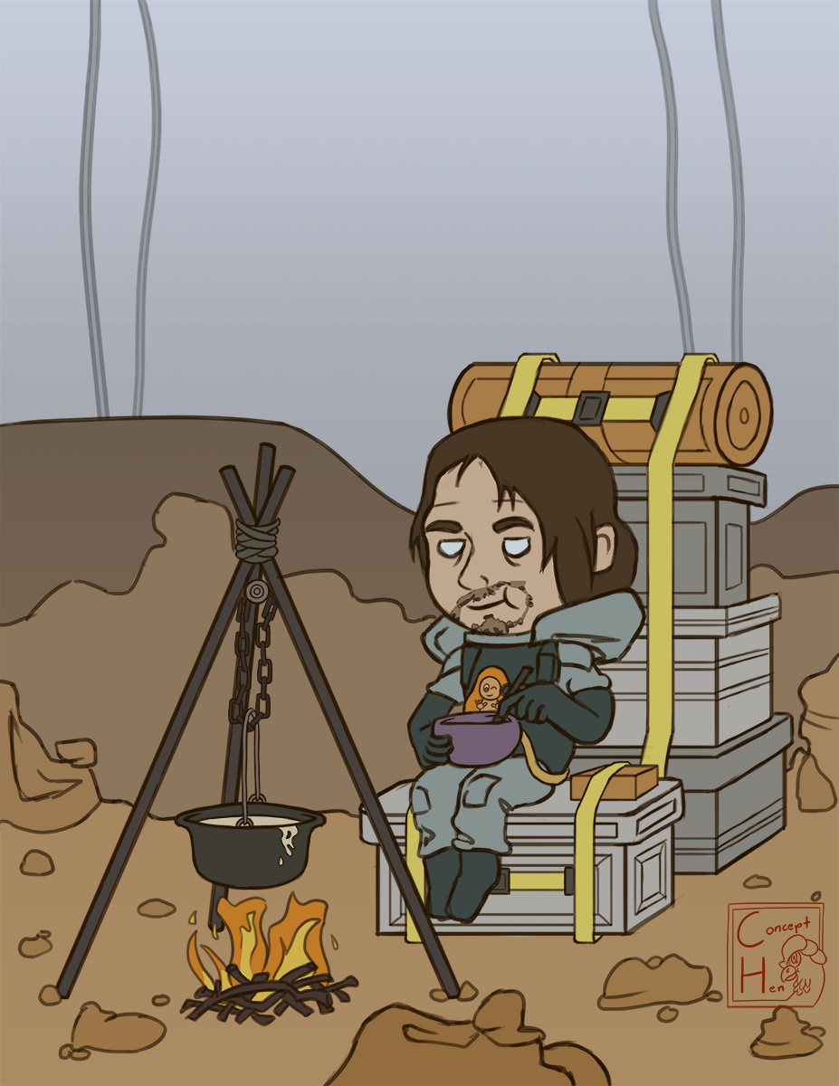 Death Stranding Camping