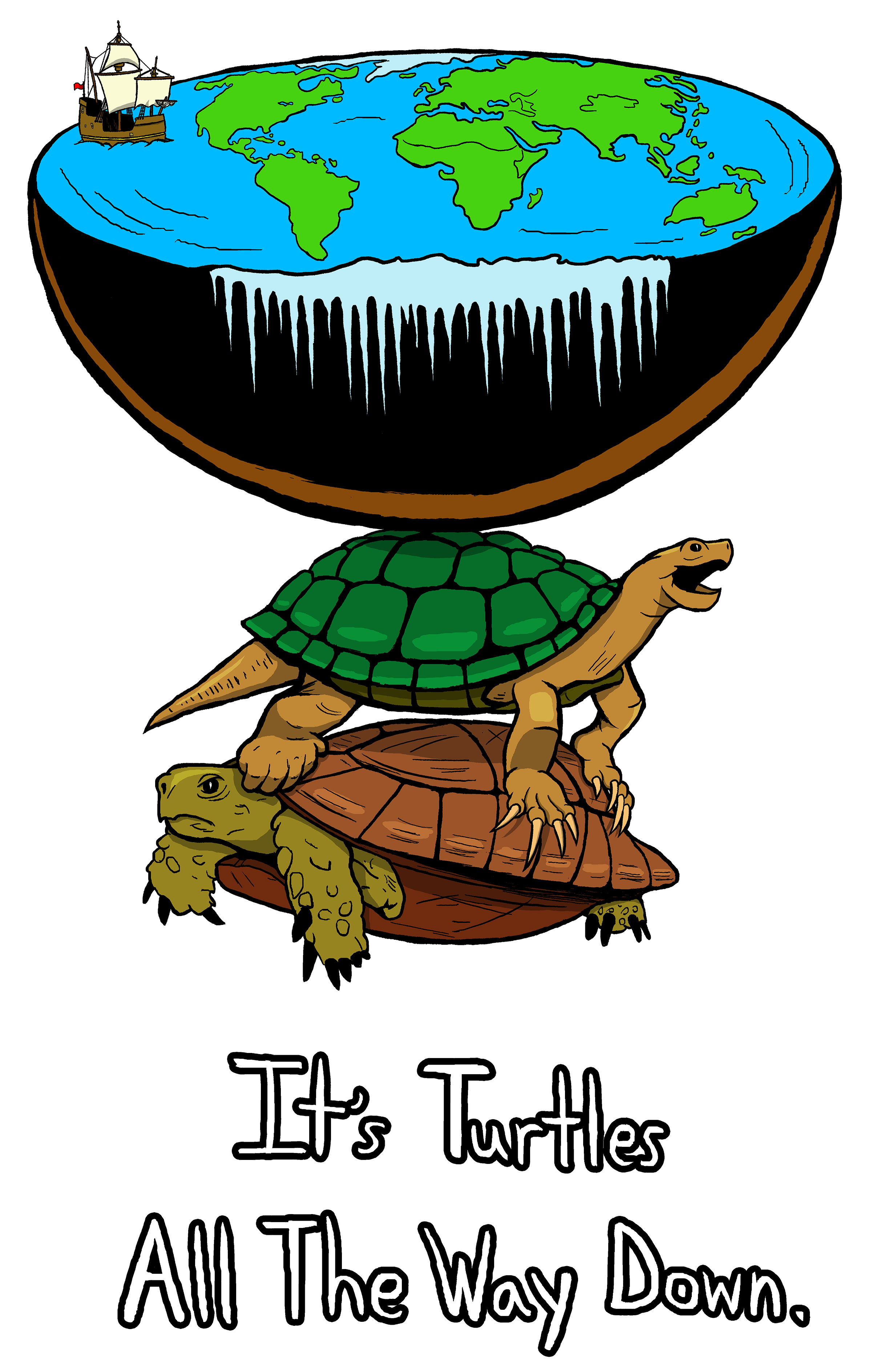 Turtles all the way down Colored