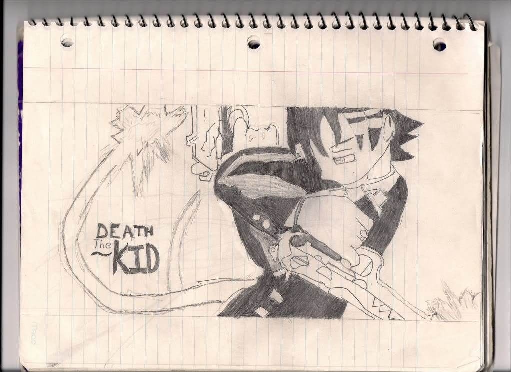 Death the kid in a notebook