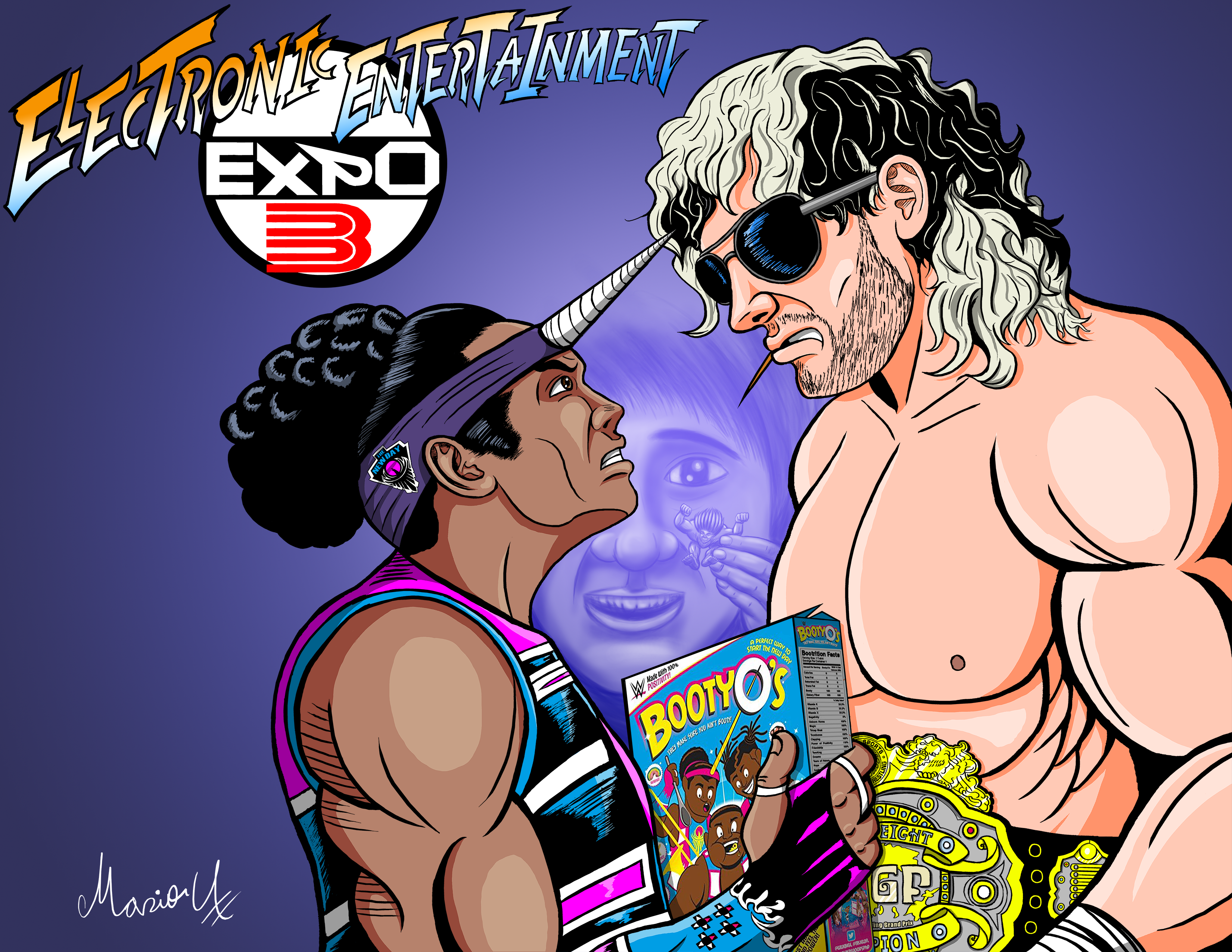 Xavier Woods vs Kenny Omega Alpha tribute