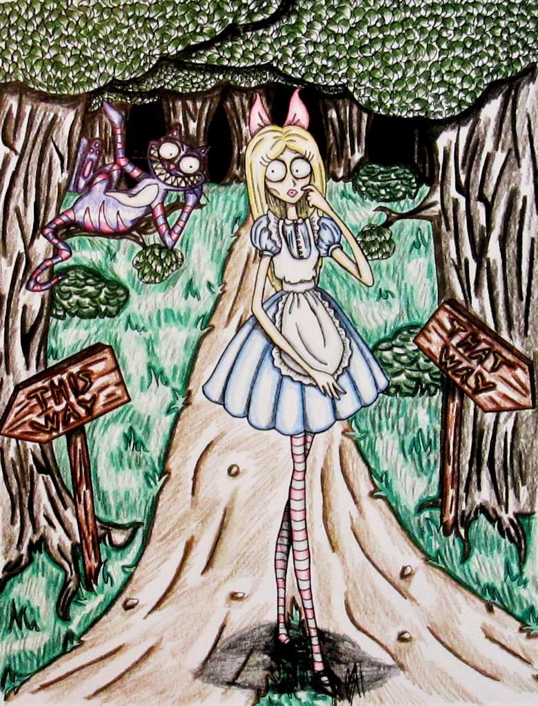 Tim Burton Style Alice Colored