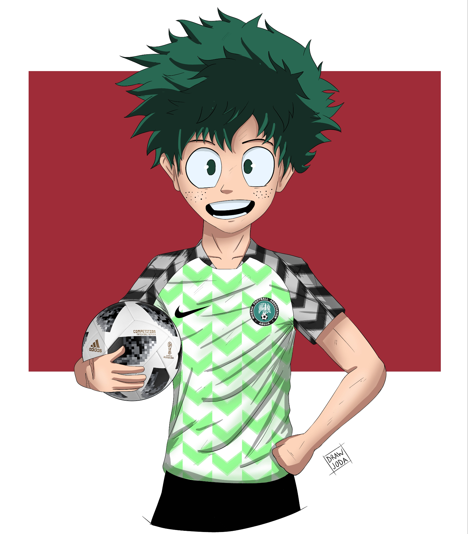 MHA World Cup Art Series (Deku/Nigeria)