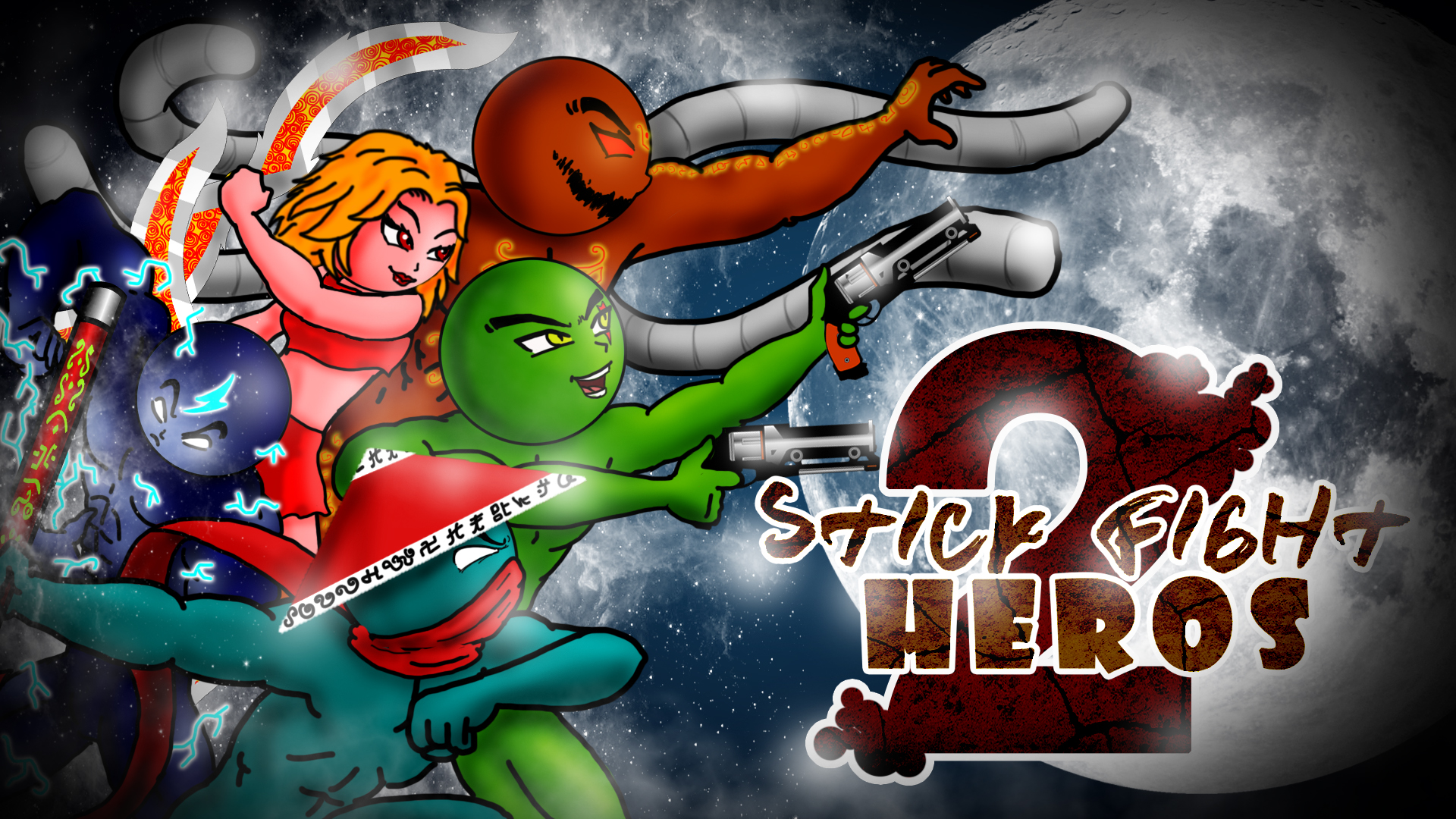 Stick fight heroes 2 poster