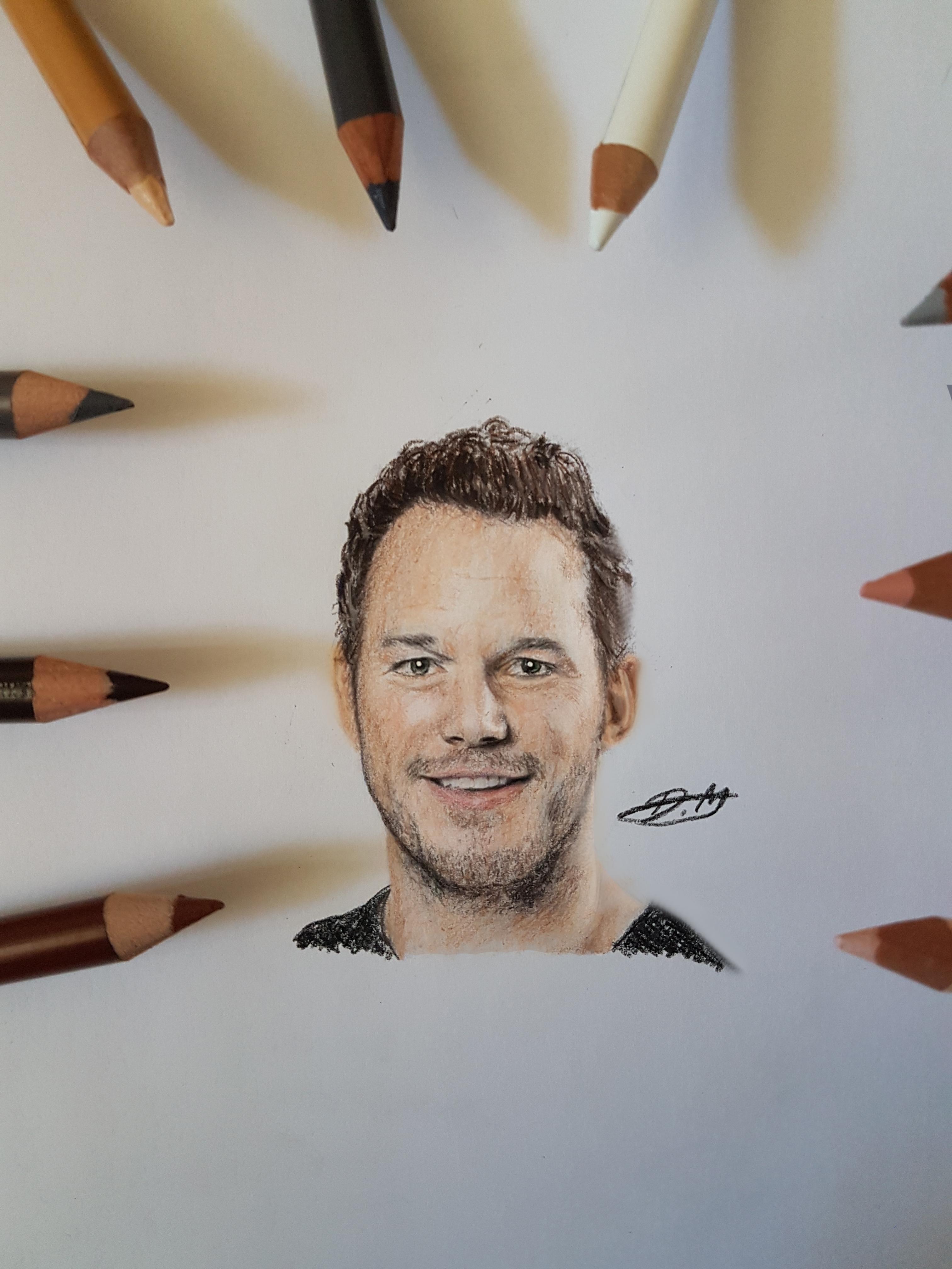 Chris Pratt Miniature Portrait