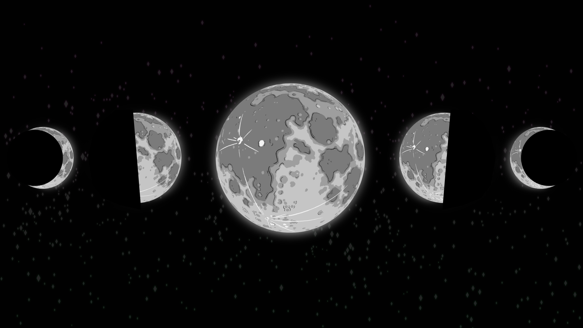Moon Phases by Spectralbeacon on Newgrounds