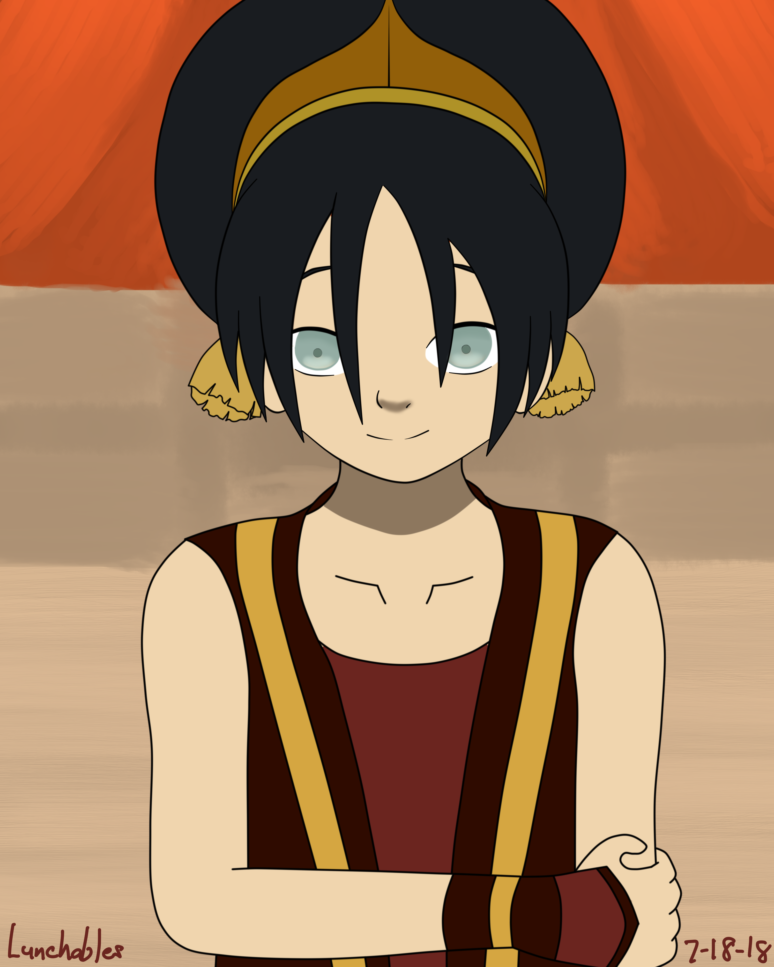 fire nation toph by lunchables69 on newgrounds