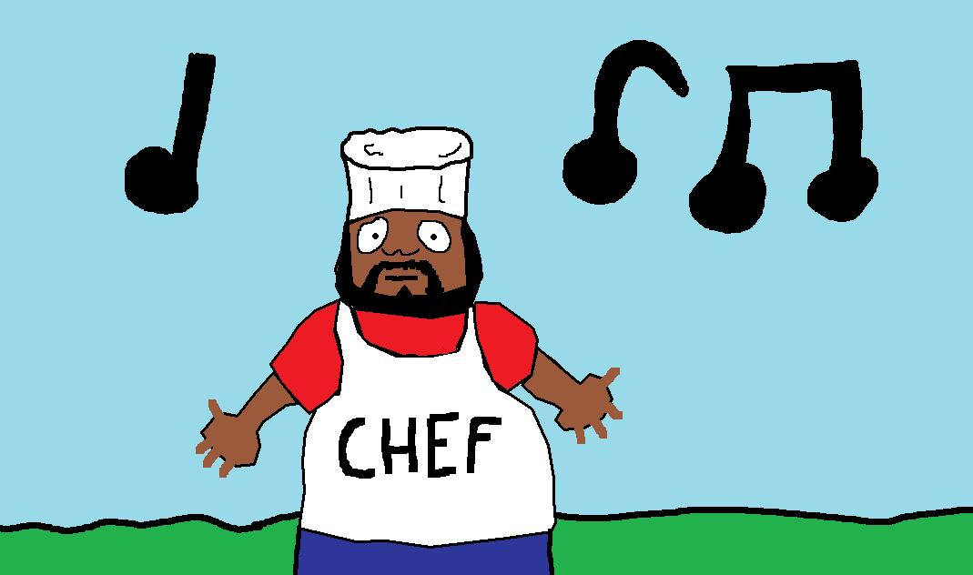 my favorite cartoon charecter CHEF from south park
