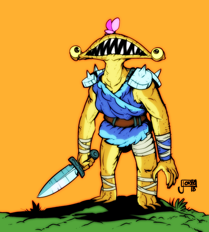 Monster Knight and Butterfly
