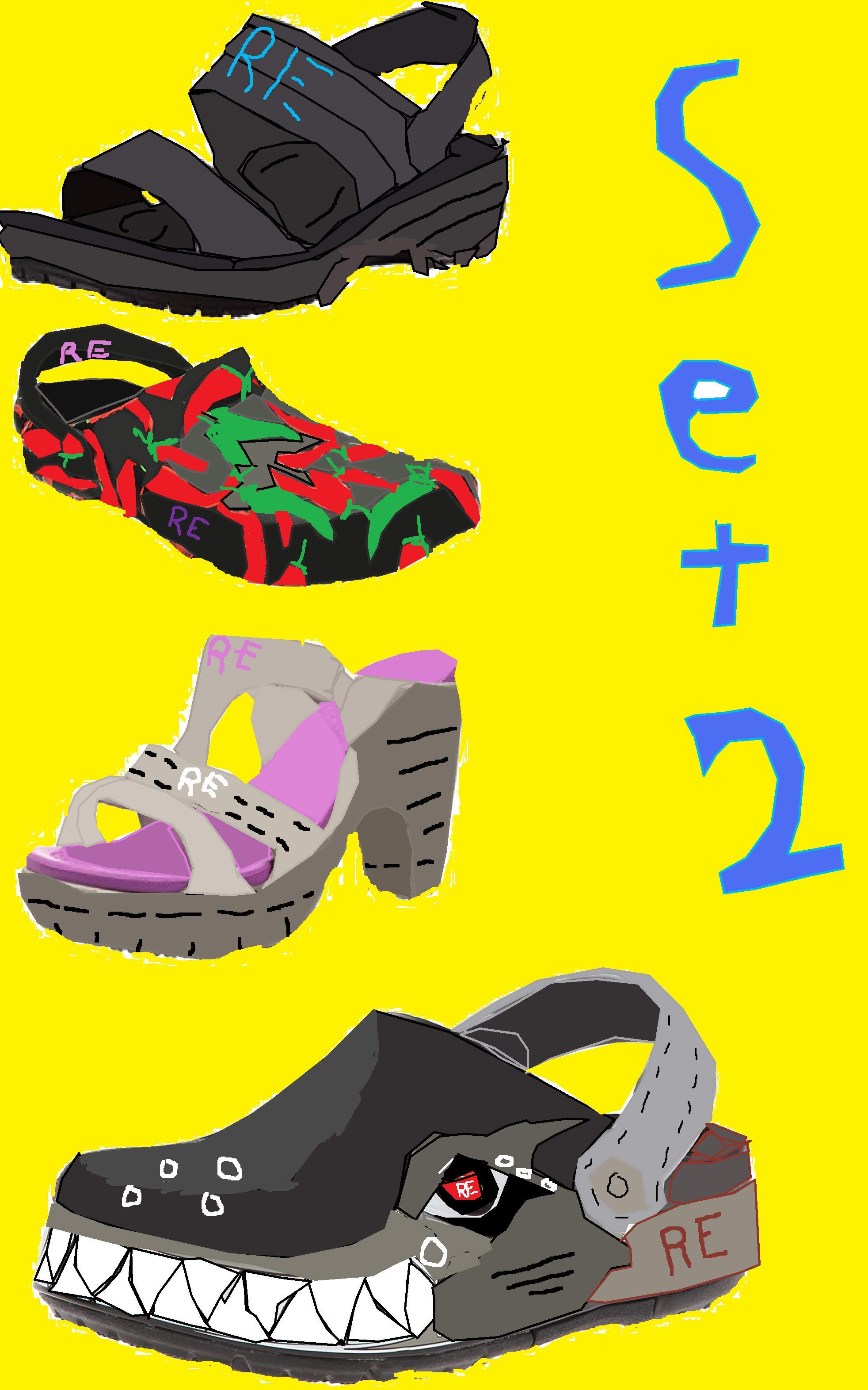 redeyes foot wear set 2
