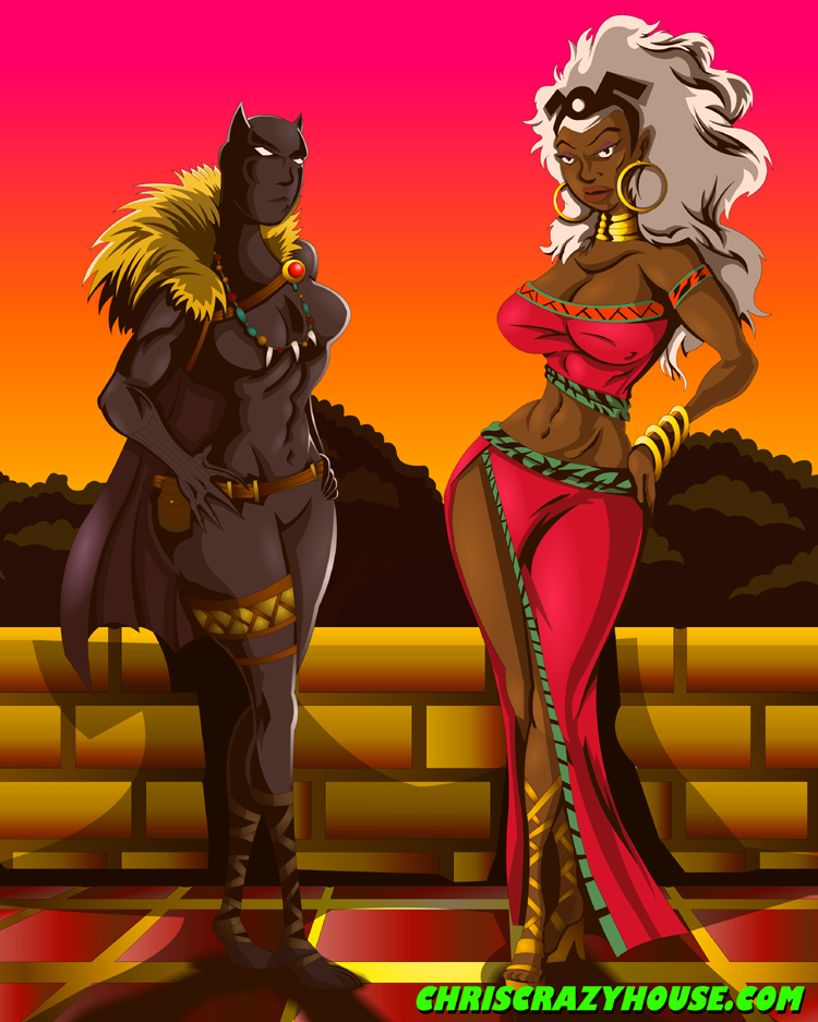 Storm and Black Panther