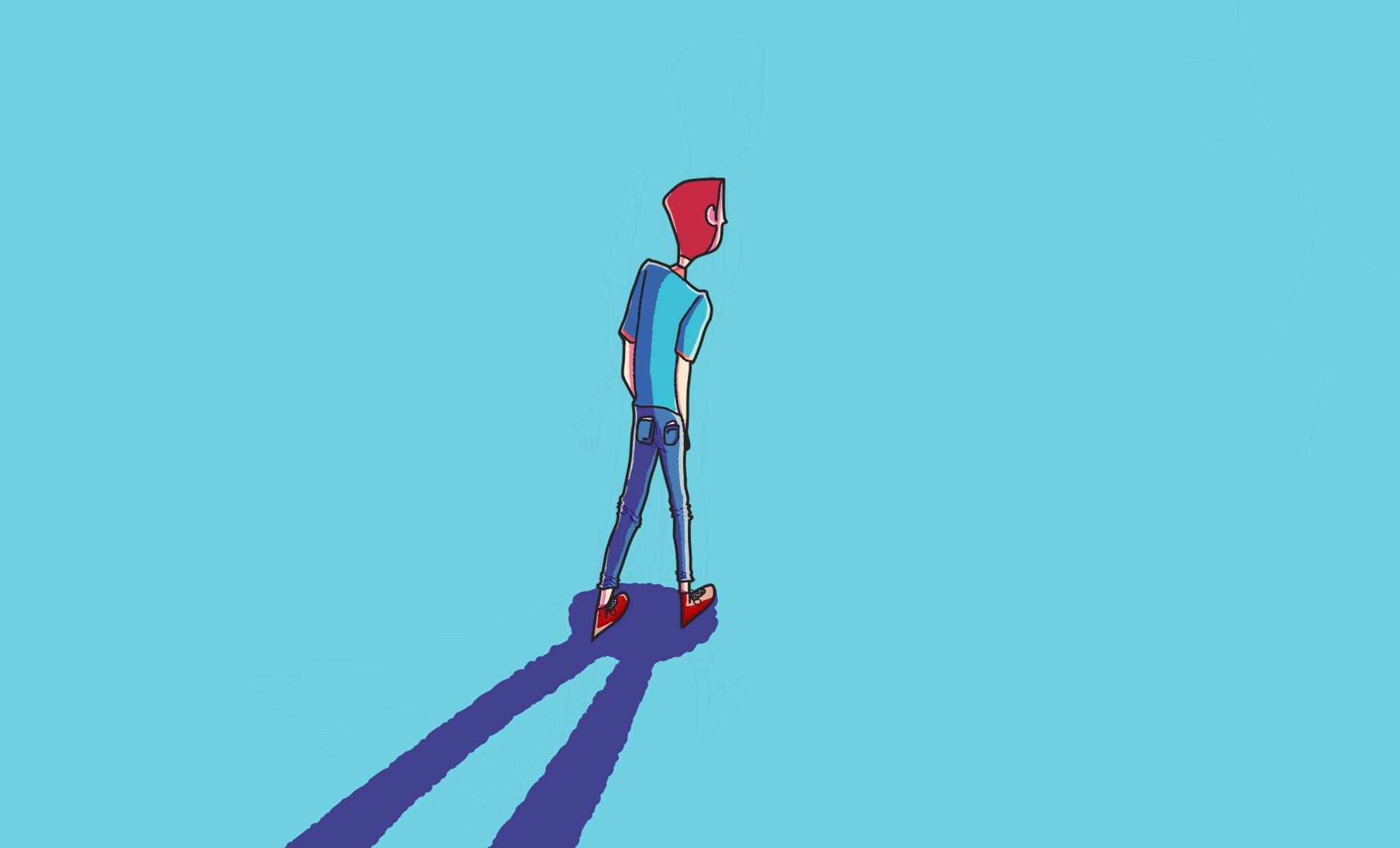 WALKING THRU THE BLU