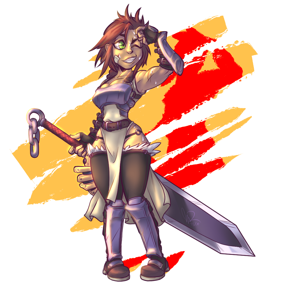 Cute Warrior Lady