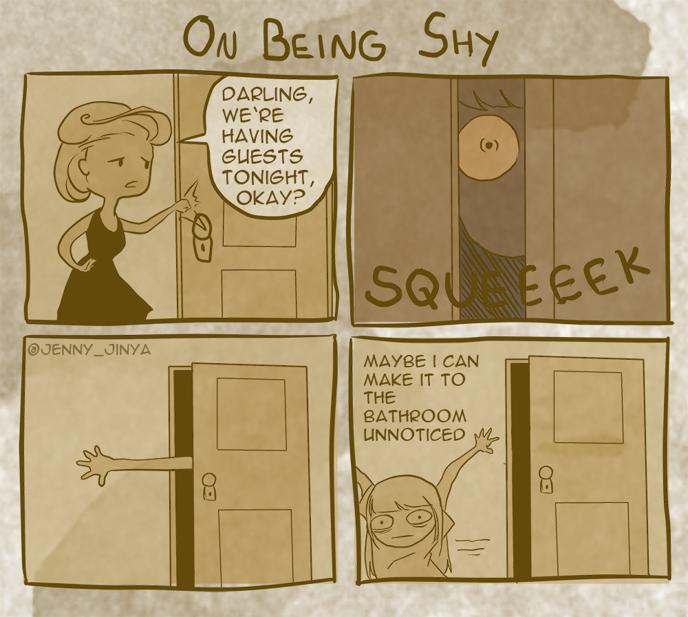 On being shy