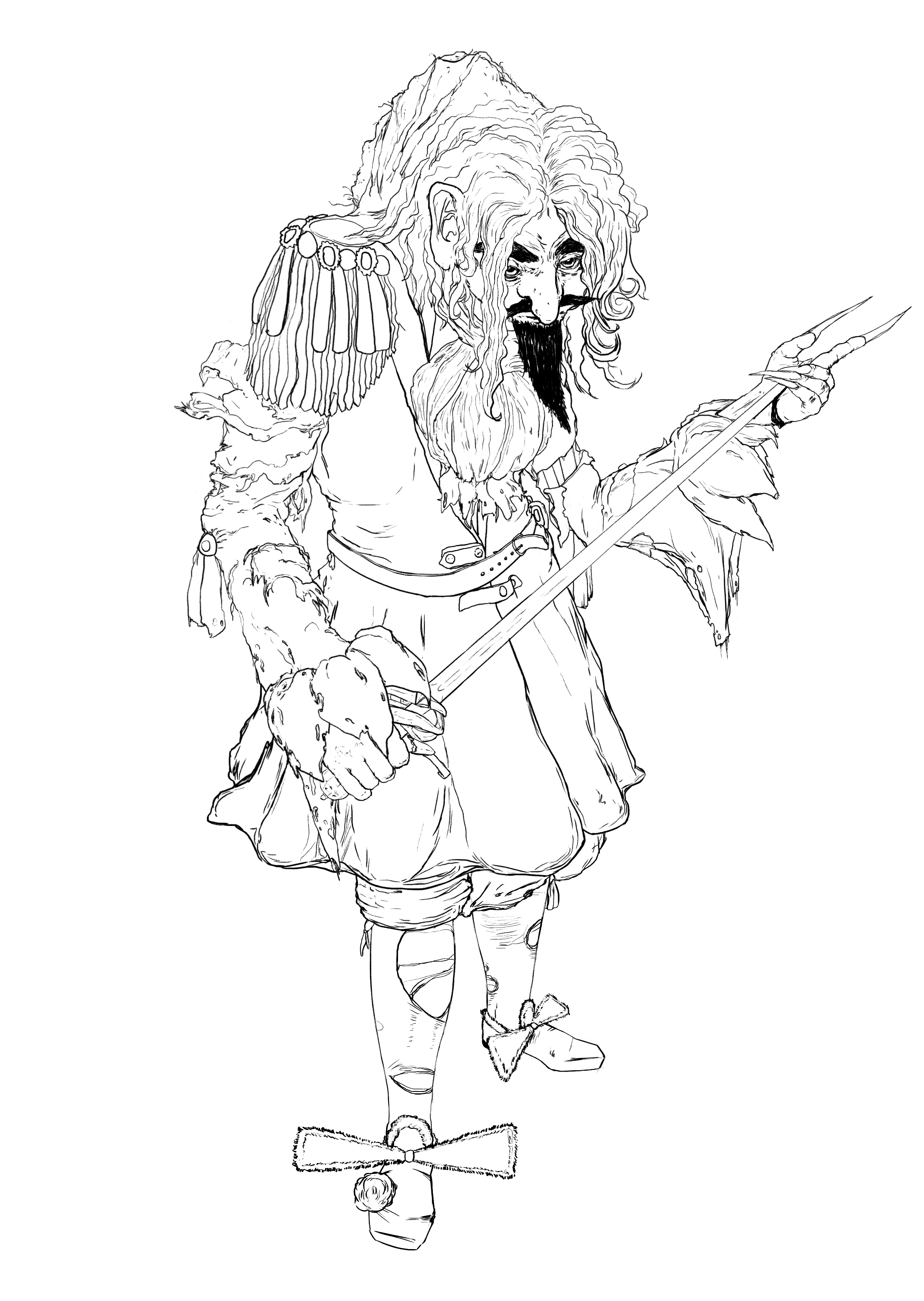 Unfinished Baroque Zombie Aristocrat