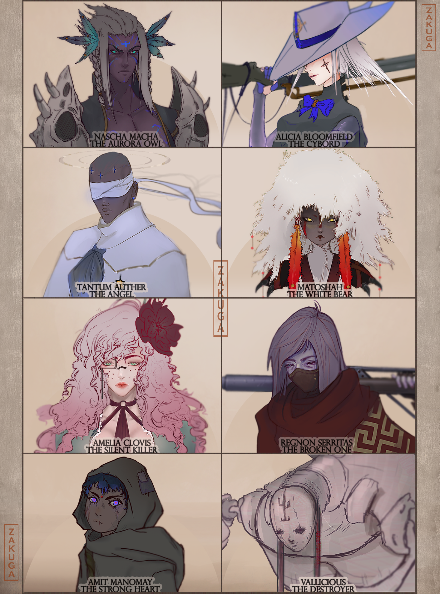 Dark Wild West Character Faces