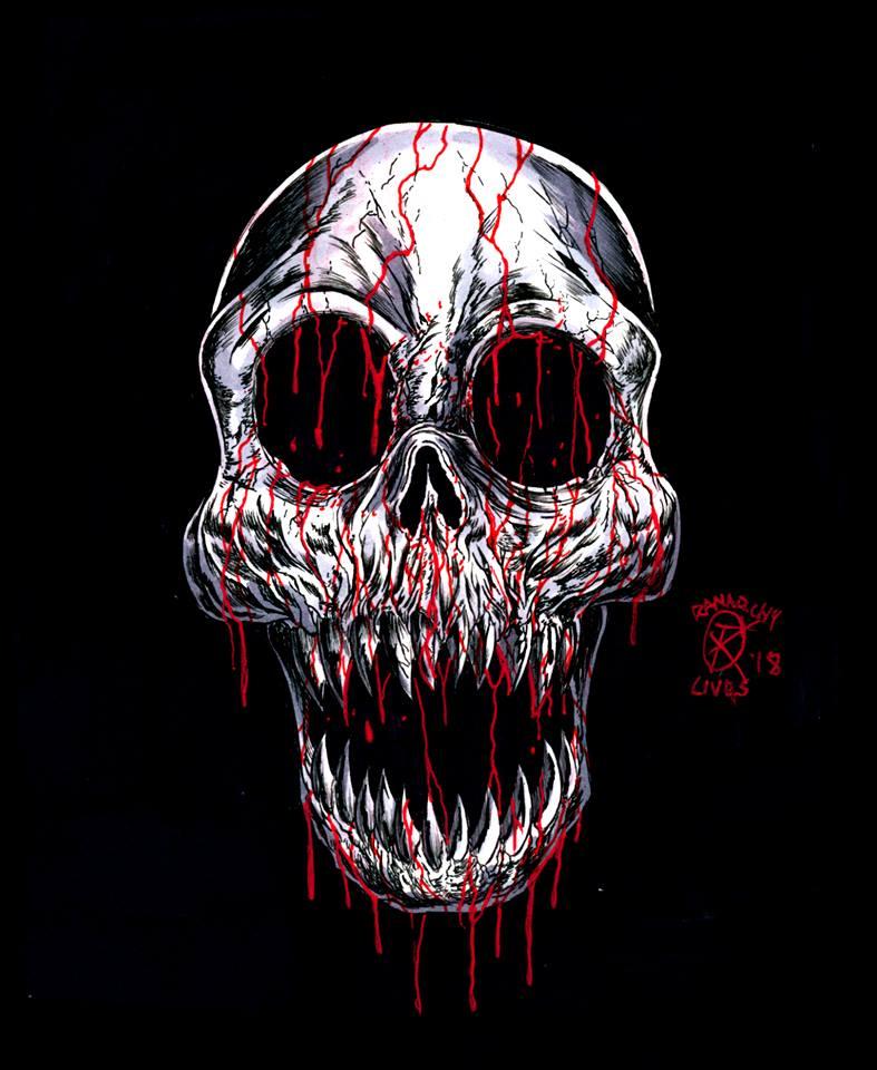 Old Skull Zine Mascot