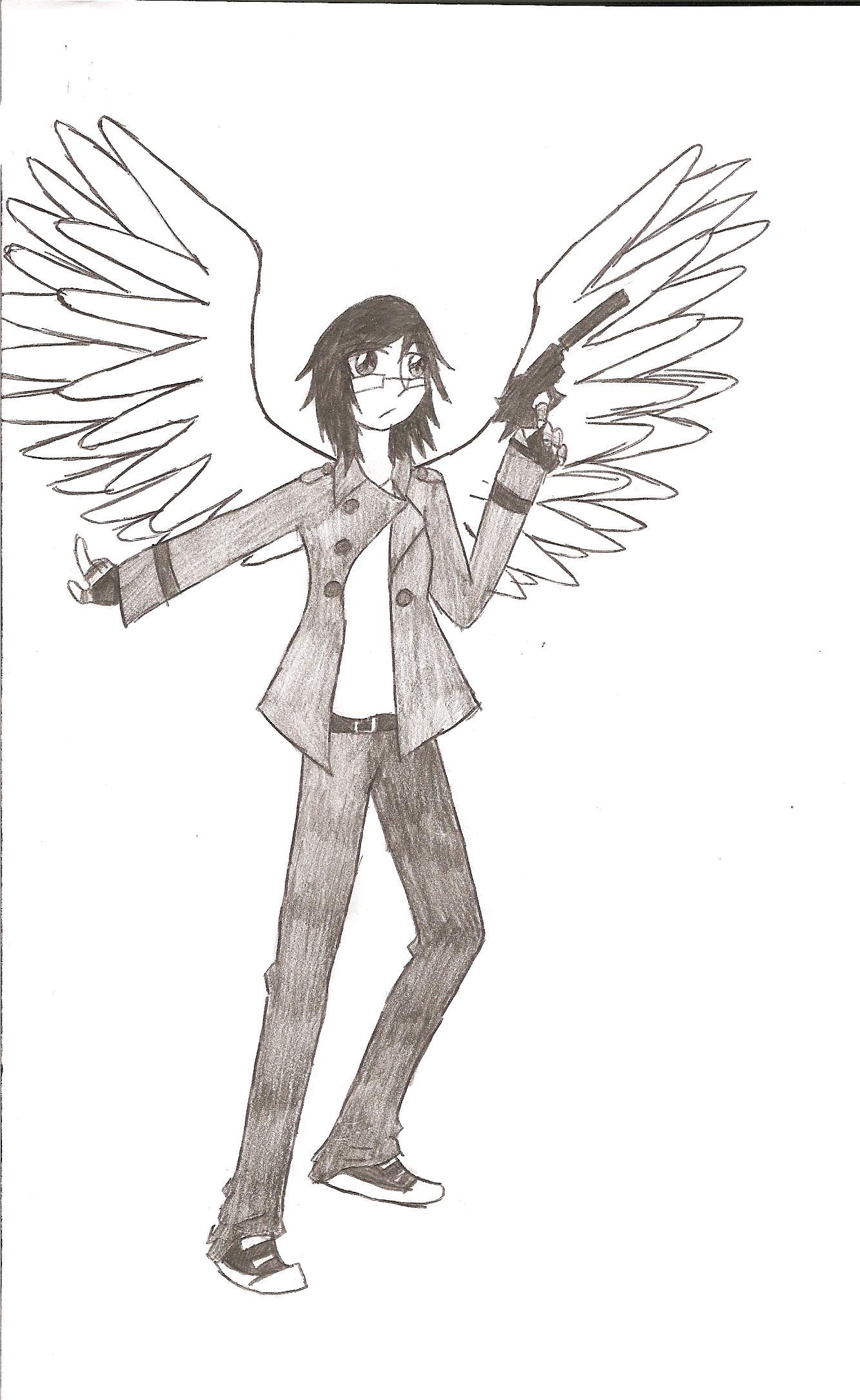 Twin Angel pencil drawing
