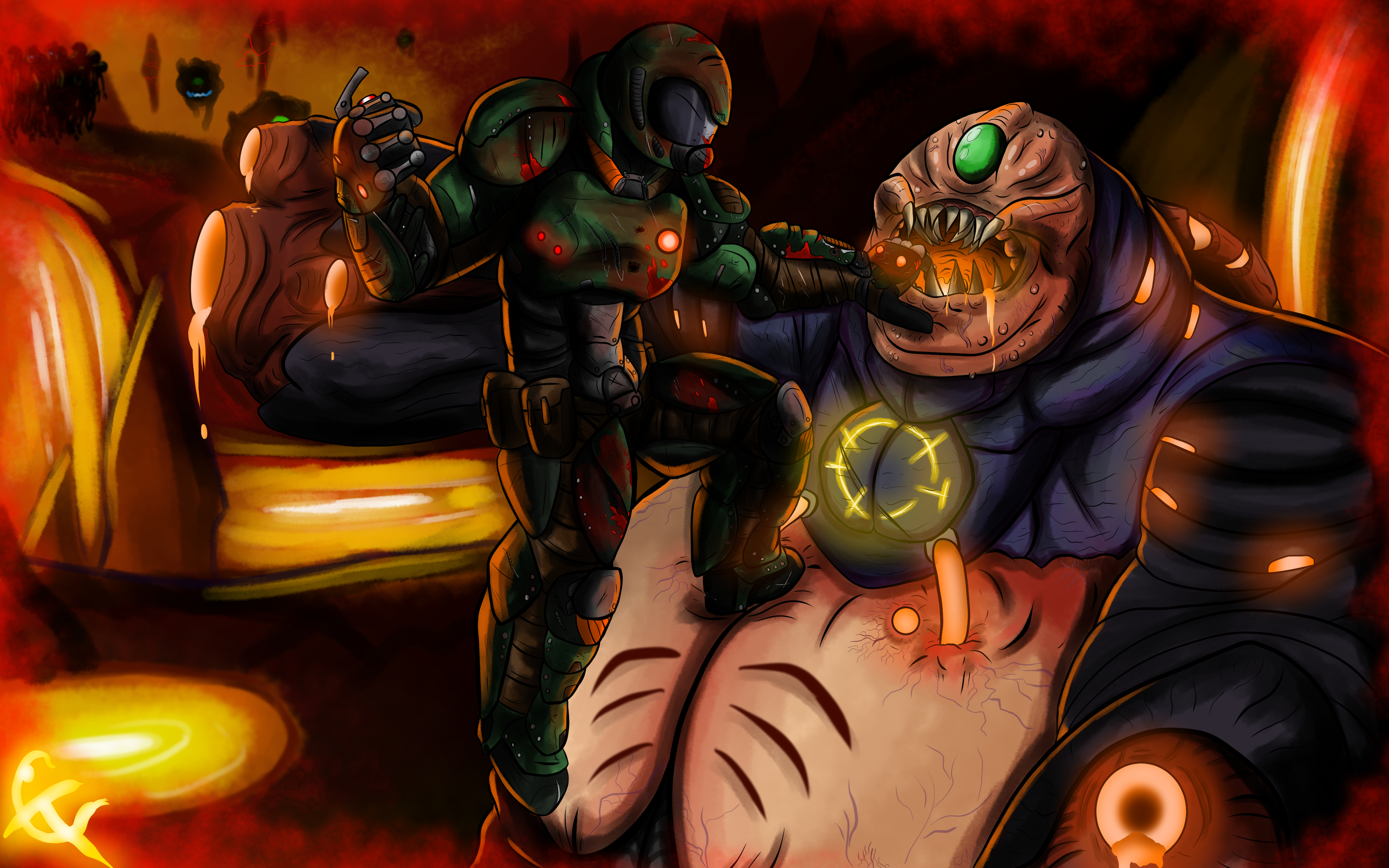 Perks At Work >> THE DOOM SLAYER by TheIcarusCrisis on Newgrounds