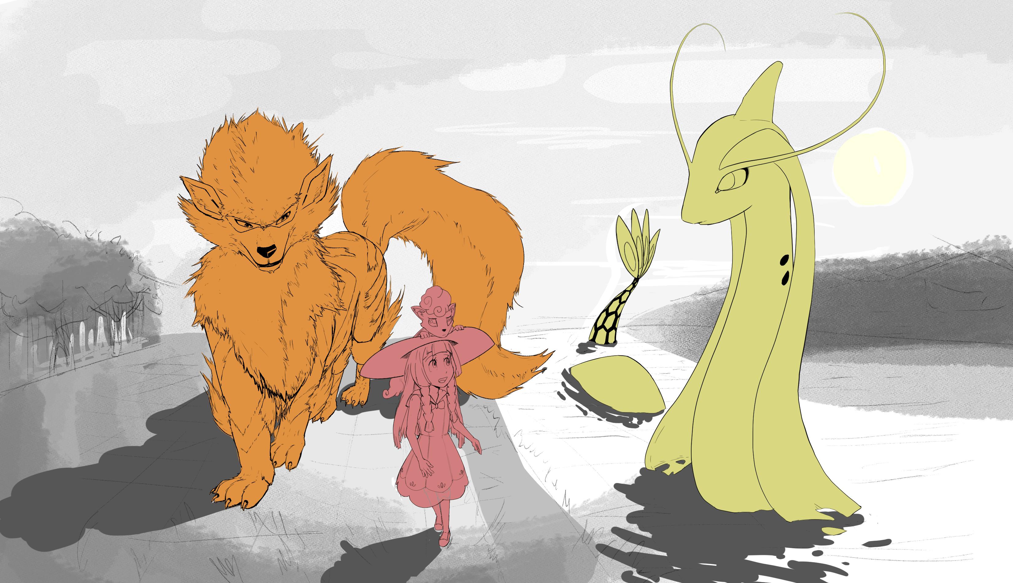 Walking with Giants (linework)