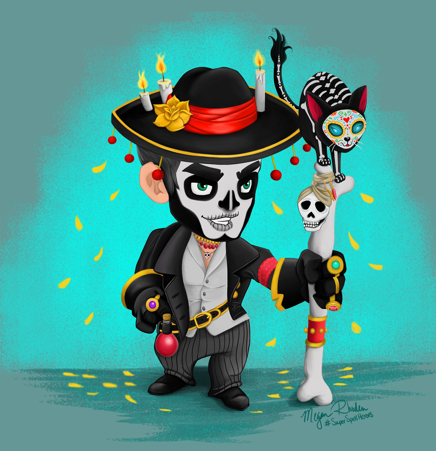 Super Spell Heroes Contest- Thoben (Day of the Dead)