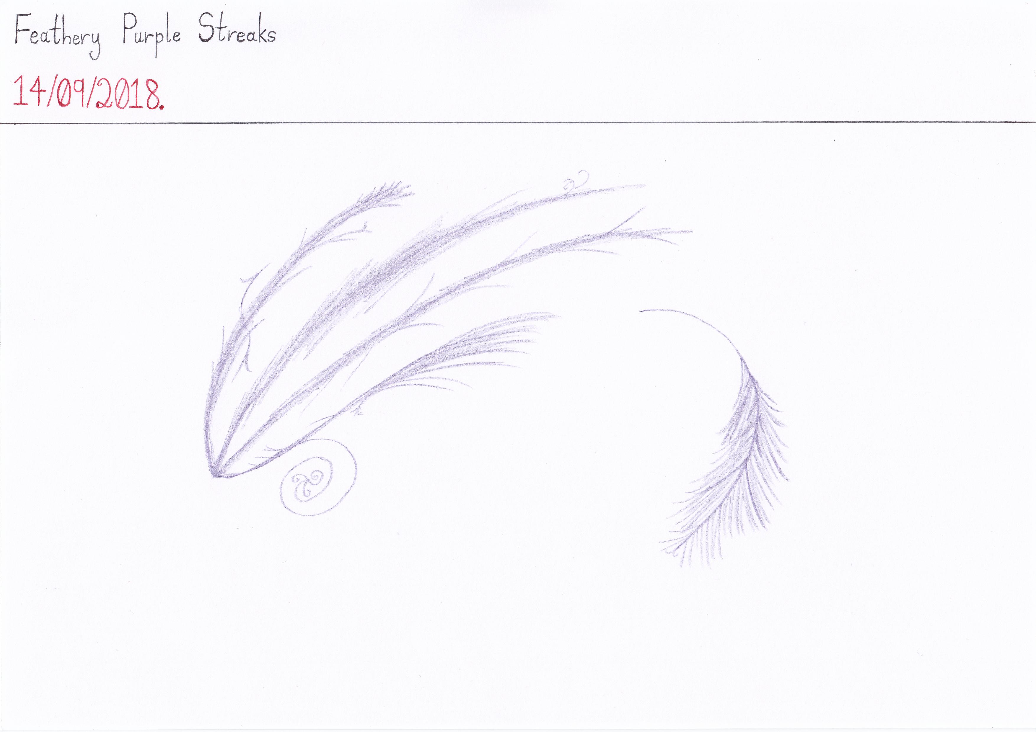 Art #84 -- Feathery Purple Streaks