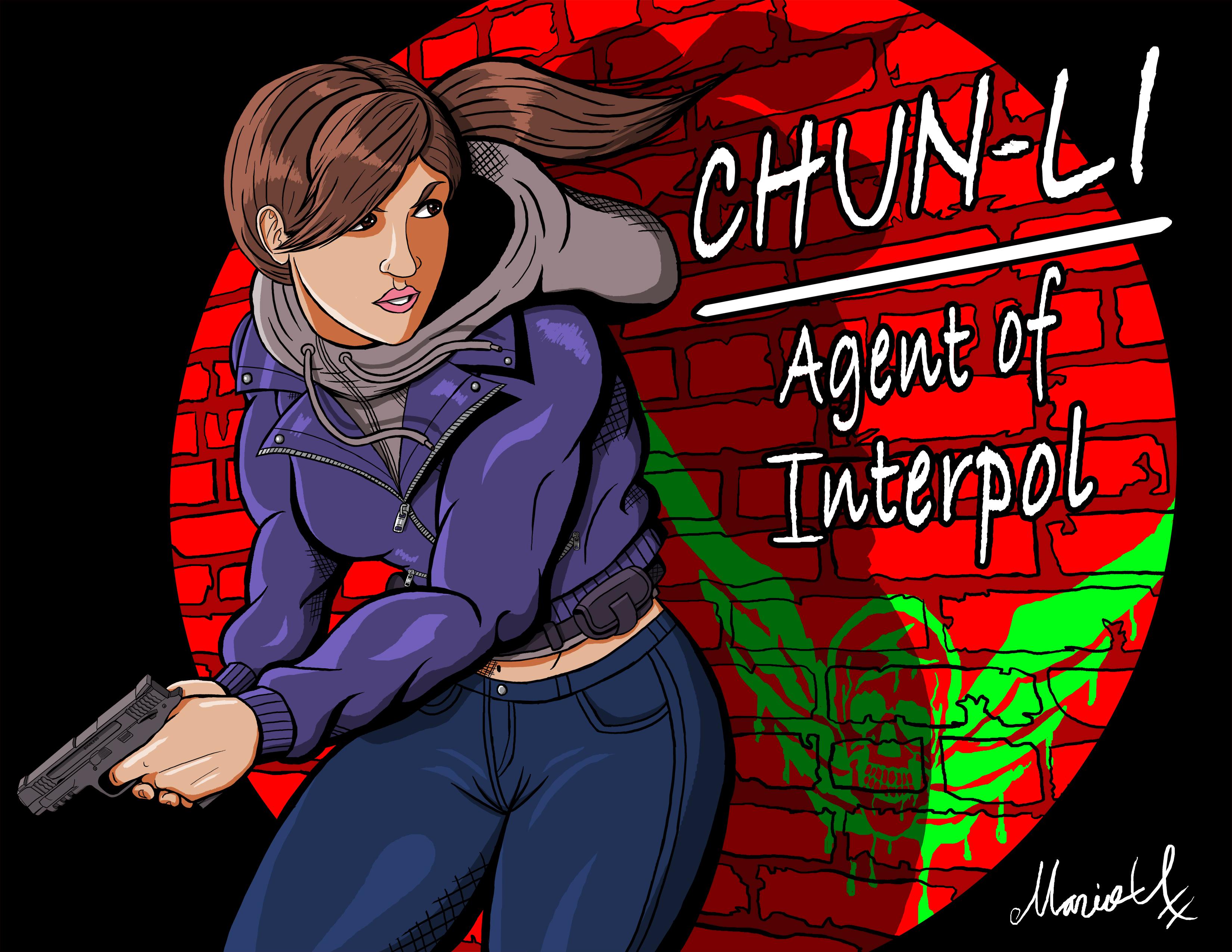 Undercover Chun Li Agent of Interpol Colored