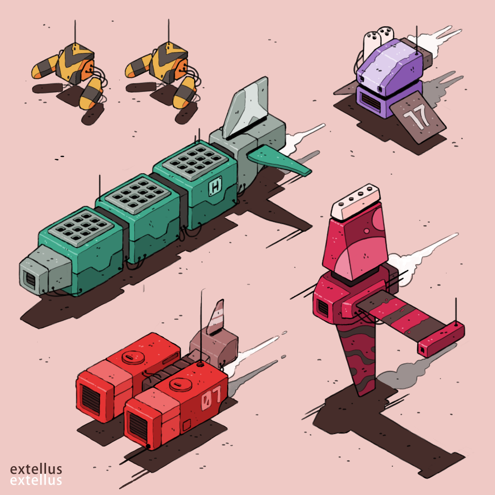 A collection of ships that glide across the infinite sands