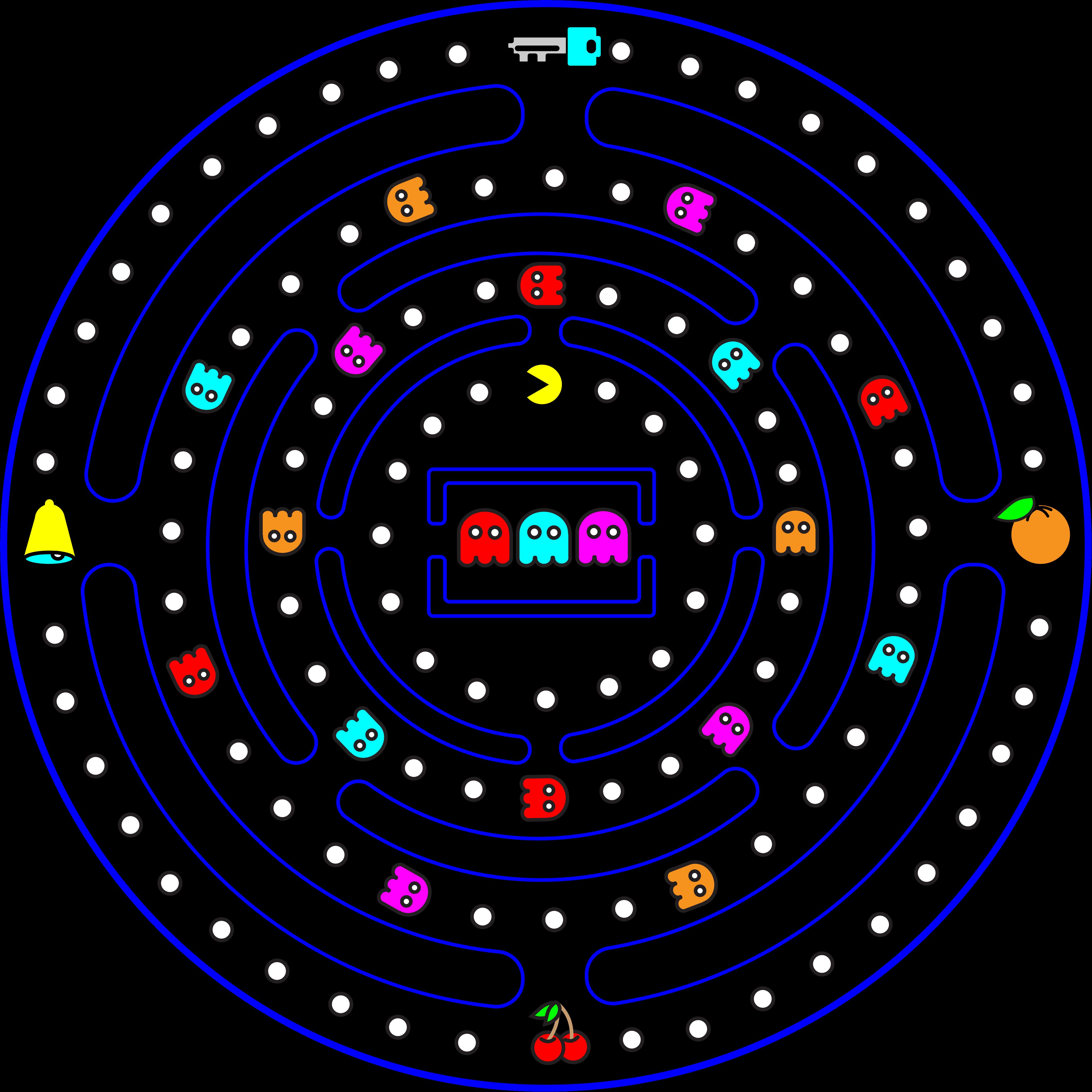 Pac-Man Radial Design