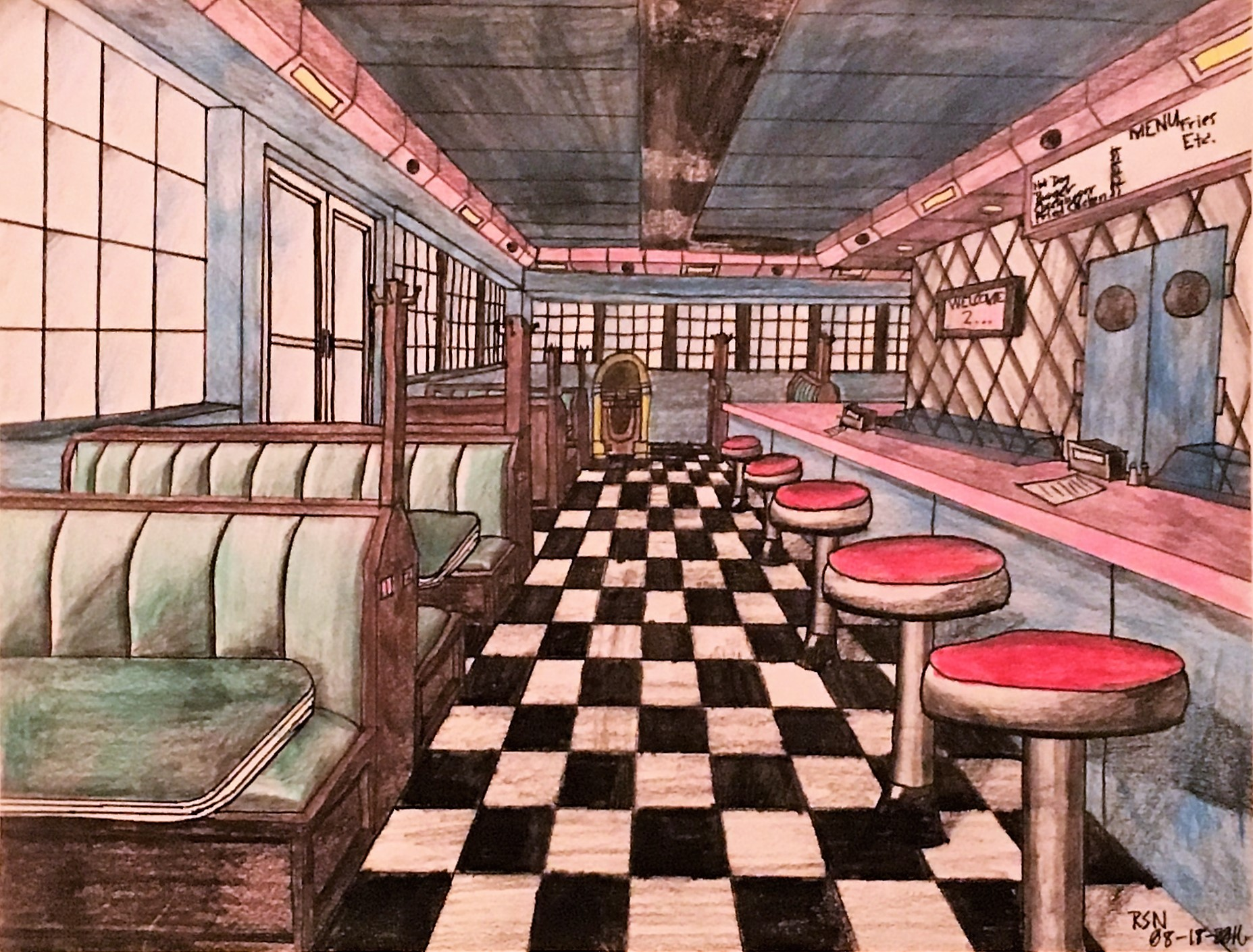 A 50s Diner By Slademation On Newgrounds