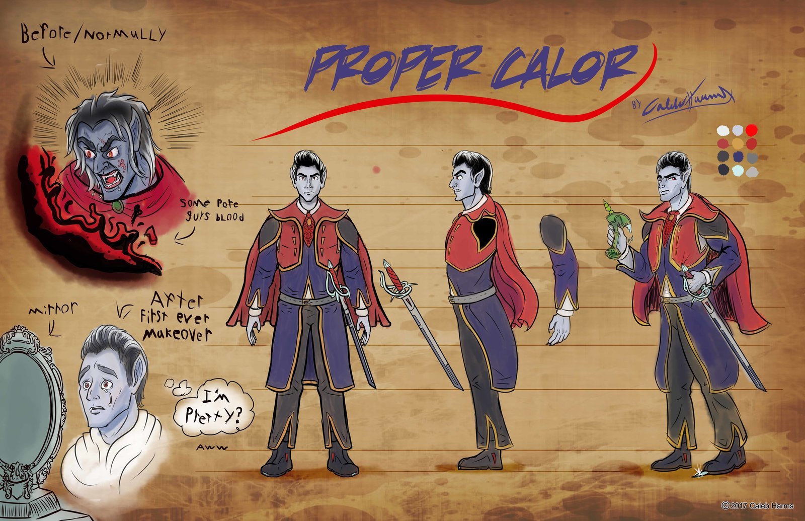 Calor Makeover Character Concept