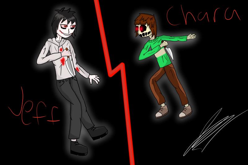 Jeff teh Killer VS Chara