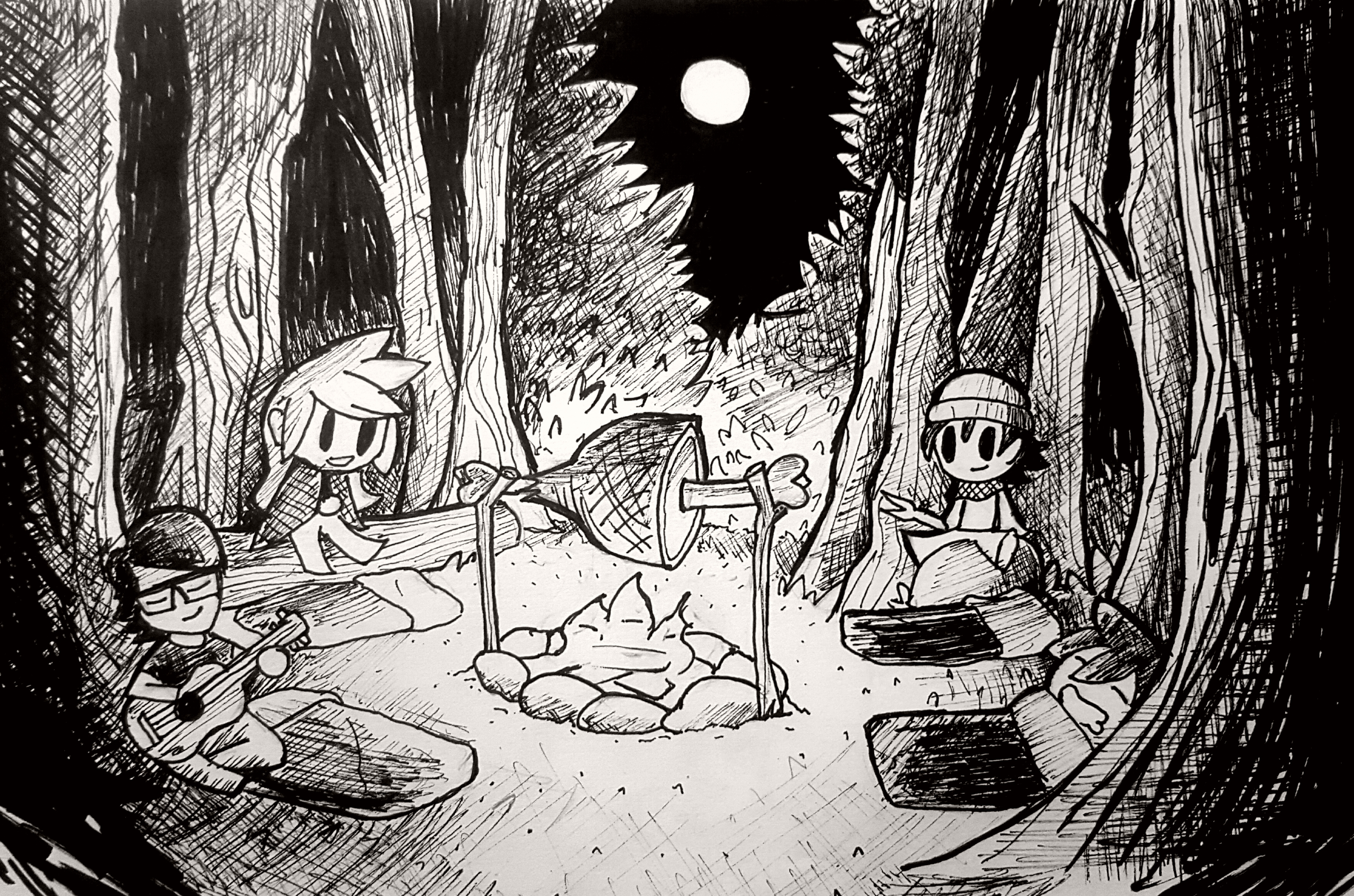 Inktober #3: Roasted